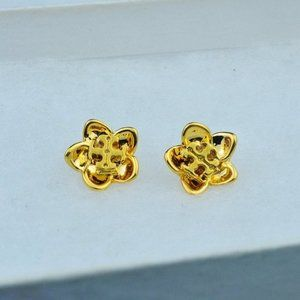 Tory Burch 3D Flower LOGO Earrings